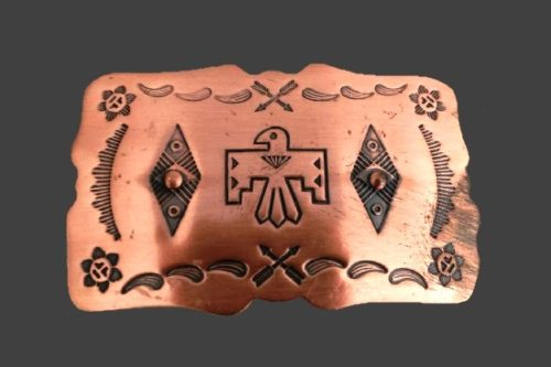 Belt Buckle. Copper
