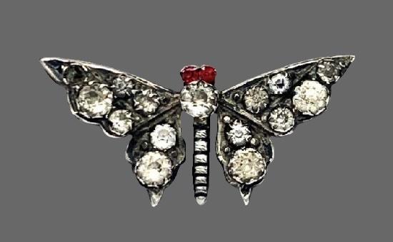 Butterfly brooch. Silver. 3.5 cm. 1896