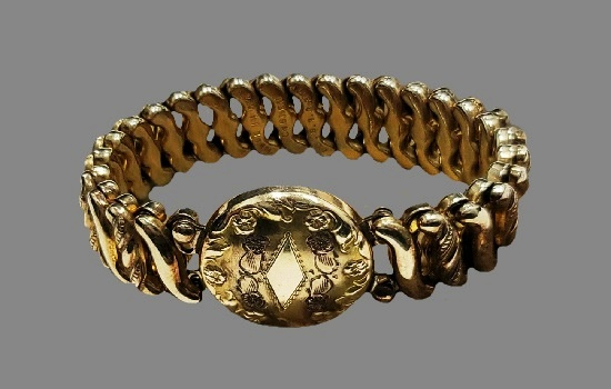 Carmen collection Women's wrist bracelet of gold tone