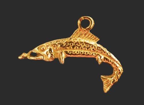 Fish copper charm