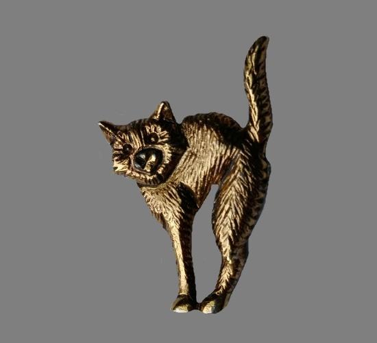 Halloween cat lapel pin