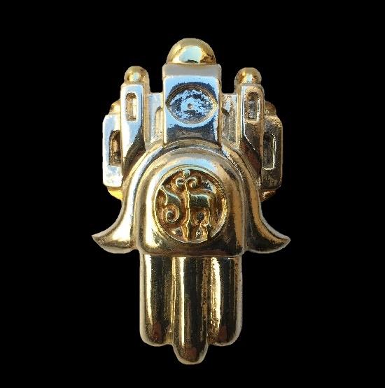 Hamsa sterling silver pendant