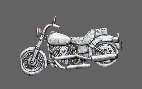 Motorcycle vintage pewter pin