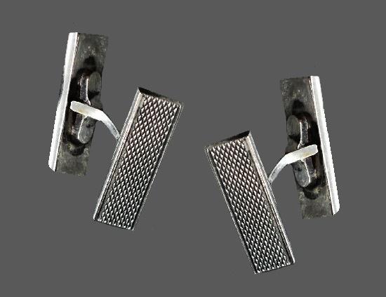 Textured sterling silver cufflinks