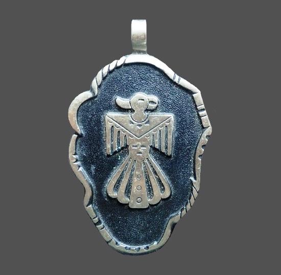 Thunderbird nickel silver pendant