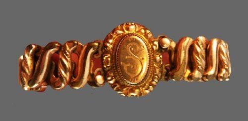 Victorian design gold plated bracelet. 1920s