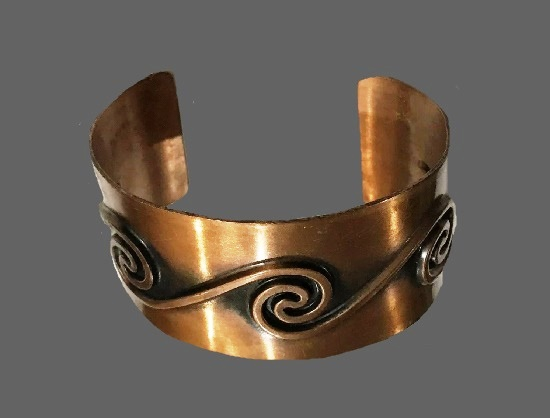 Wave design copper bracelet