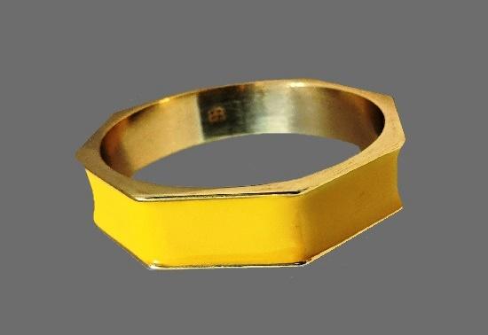 Yellow enamel brass bracelet