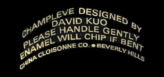 Champleve Cuff Designed by David Kuo