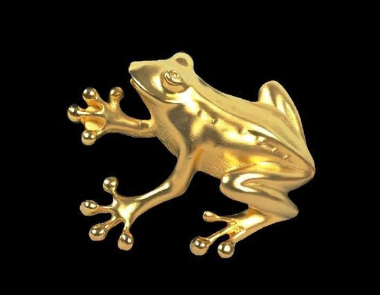 Frog gold tone pin