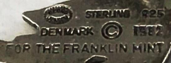 Georg Jensen The Franklin Mint 1982 signature