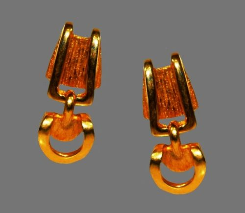 Gold plated clip on earrings. 1994