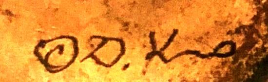 Hand engraved signature