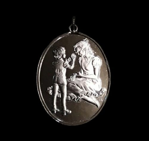 Mother's Day pendant. Sterling silver. 1976