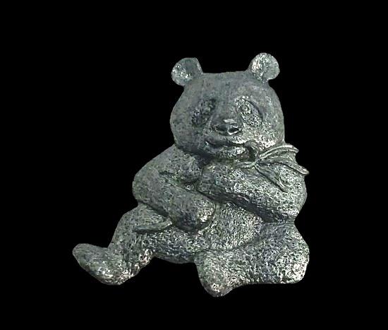 Panda bear lapel pin. 1985
