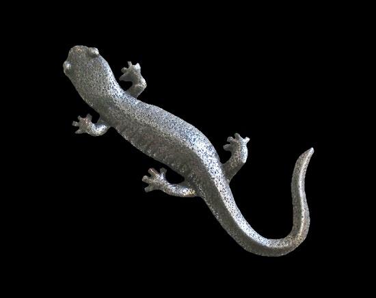 Salamander fine pewter lapel pin