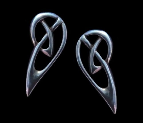 Abstract design sterling silver stud earrings