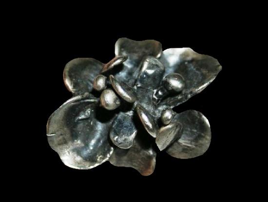 Flower sterling silver ring