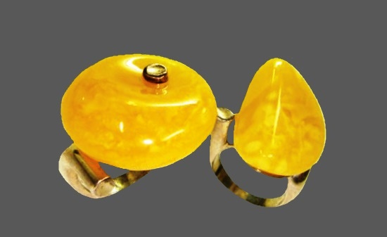 Hiroi Ito silver and amber rings