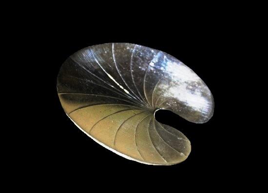 Lily pod sterling silver brooch