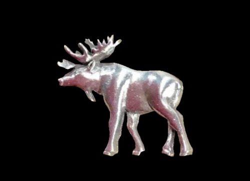 Moose pewter lapel pin