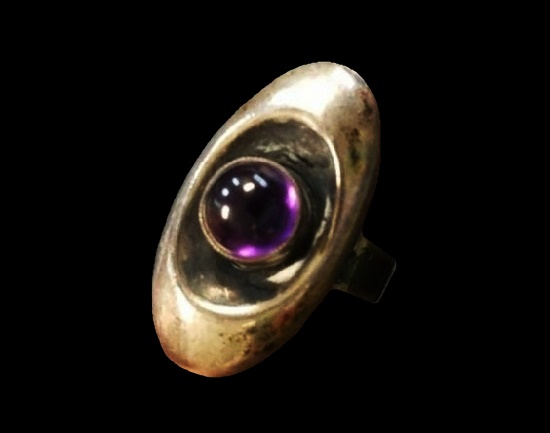 Purple stone 925 sterling silver ring