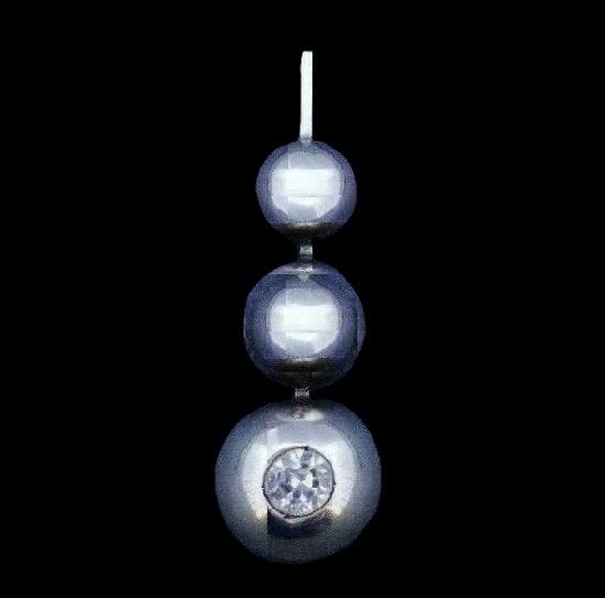 Rock crystal sterling silver pendant. 1968