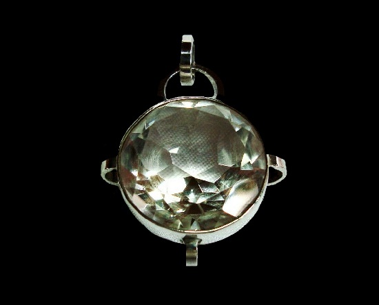 Rock crystal sterling silver pendant. 1972