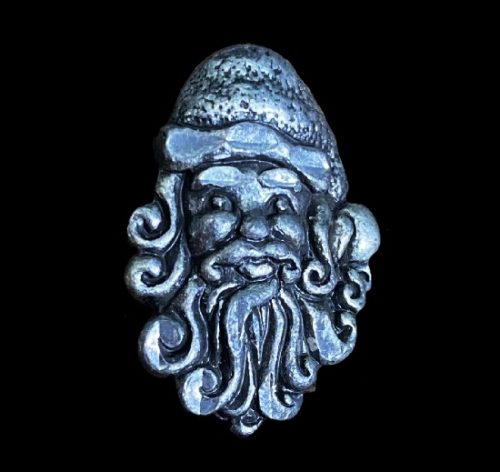 Santa head pewter lapel pin. 1999