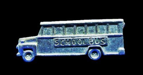 School bus pewter pin
