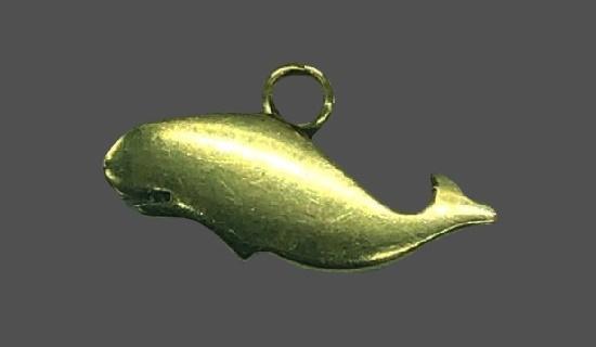 Whale gold pendant