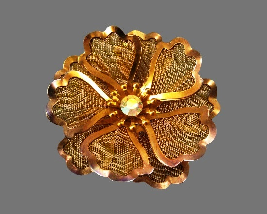 Signed BED vintage costume jewelry
