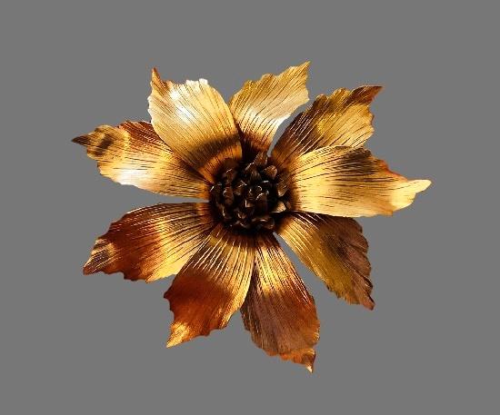 Flower 14 K gold filled brooch